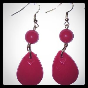 💥BOGO💥 Red Tear Drop Dangle Earrings
